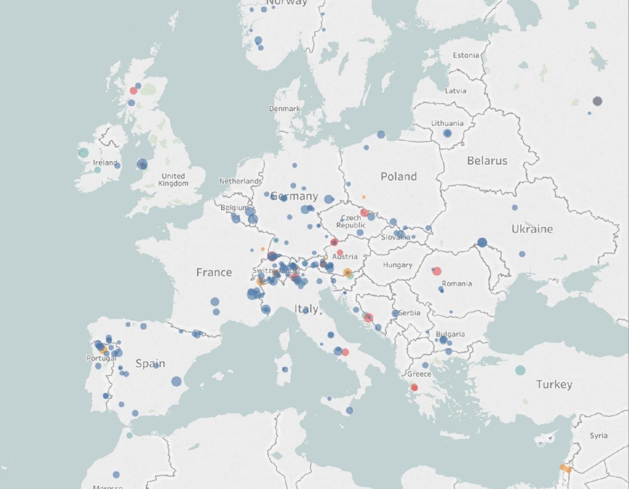 Svetovni zemljevid vodnih baterij